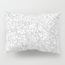 Tiny Spots - White and Silver Gray Pillow Sham