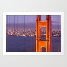 The Golden Gate Bridge at Night Art Print