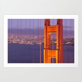 The Golden Gate Bridge at Night Art Print
