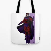 magneto Tote Bags featuring Magneto by Andrew Formosa