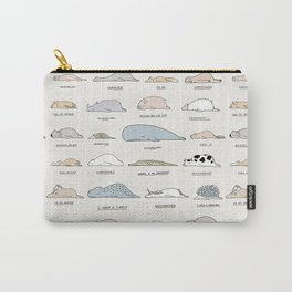 The Moody Animals (Colours) Carry-All Pouch
