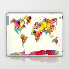world map color art Laptop & iPad Skin