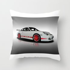 Porsche GT3 Rs Throw Pillow
