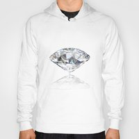 diamonds Hoodies featuring diamonds by Kazuma Shimizu