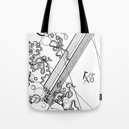 Black and White Chaos Tote Bag