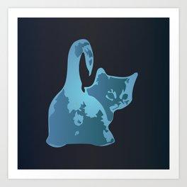 Cat Blues Art Print