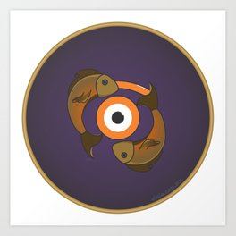 piscis eye Art Print