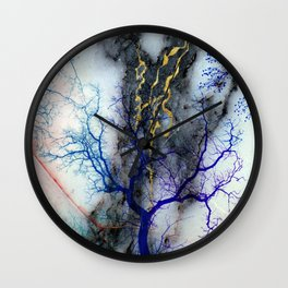 Marble through Tree Branches Wall Clock