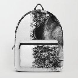 Thin Blue Line German Shepherd Police Dog K9 design Backpack