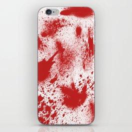 Bloody Blood Spatter Halloween iPhone Skin