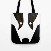badger Tote Bags featuring Badger by Christian Bailey