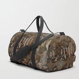 Bronze Metal Wood Abstract Painting Duffle Bag