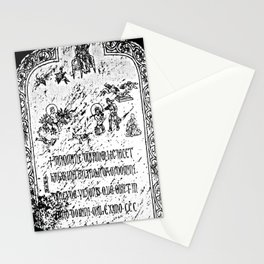 The Tombstone of Katarina Vilioni, from Yangzhou Stationery Cards