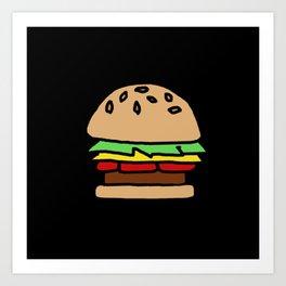 Burger Off Art Print