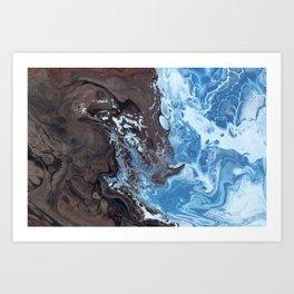 Surfing Surfer Abstract Art Waves Art Print