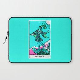 0. The Fool- Neon Dreams Tarot Laptop Sleeve