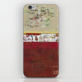 Buffalo Indian Red Burgundy Modern Abstract Art iPhone Skin