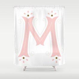 M Drop Cap Shower Curtain
