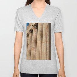 Parthenon, Athens, Acropolis of Athens, ancient Greece photography, Athens Agora, doric columns Unisex V-Neck