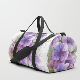 Glass Vase with Wild Flowers Duffle Bag