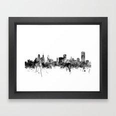 Buffalo New York Skyline Framed Art Print