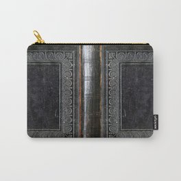 Black Antique Book Carry-All Pouch
