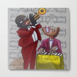 African American 'Apollo Theater Sheet Music Portrait No. 6' Hot Jazz by Miguel Covarrubias Metal Print