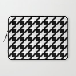 Black & White Vichy Laptop Sleeve