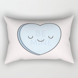 Blue Sweet Candy Heart Rectangular Pillow