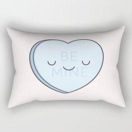 Blue Sweet Candy Heart Rectangular Pillow