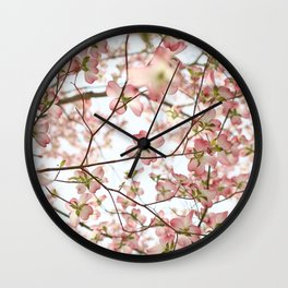 Floral Canopy Wall Clock