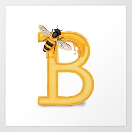 B is for Bee Art Print