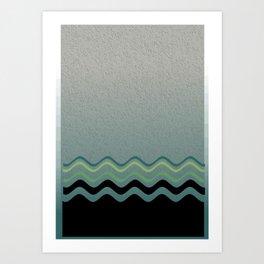 Grey &green Art Print