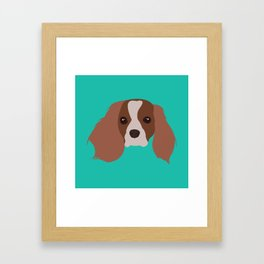 king charles cavalier Framed Art Print