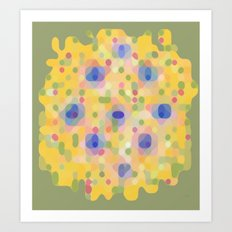 Pink Dots Retro Art Print