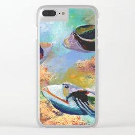 Humuhumu Tropical Fish 3 Clear iPhone Case