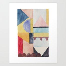 modern abstract watercolor II Art Print