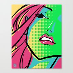 GCMYK GIRL Canvas Print