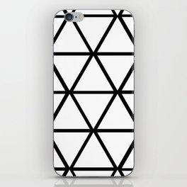 WHITE & BLACK TRIANGLES  iPhone Skin