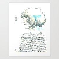 diamond Art Prints featuring Diamond by TamSanSerif