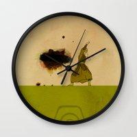 airbender Wall Clocks featuring Avatar Kyoshi by daniel