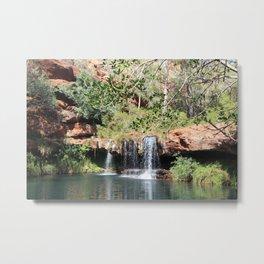 Desert Waterhole Metal Print