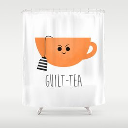Guilt-tea Shower Curtain