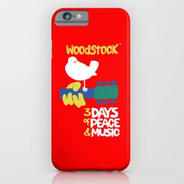 Woodstock 1969 - red background iPhone Case
