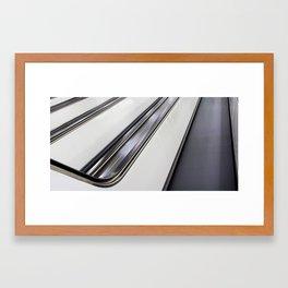 Going up. Framed Art Print