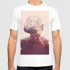 Showers (Double Exposure) White MEDIUM Mens Fitted Tee