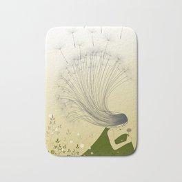 the girl with dandelion hair Bath Mat