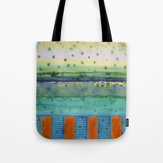 Orange Posts With Landscape Tote Bag