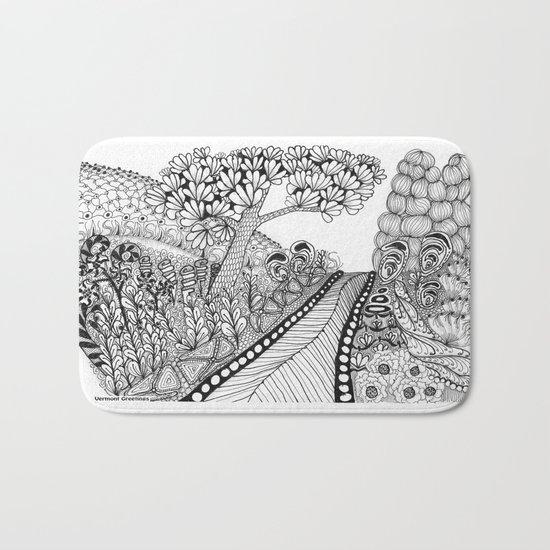 Zentangle Illustration - Road Trip Bath Mat