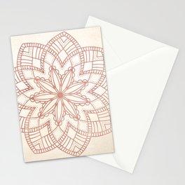 Flowery Rose Gold Mandala on Cream IV Stationery Cards